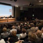 Un momento della presentazione di Umberto Veruda al Revoltella