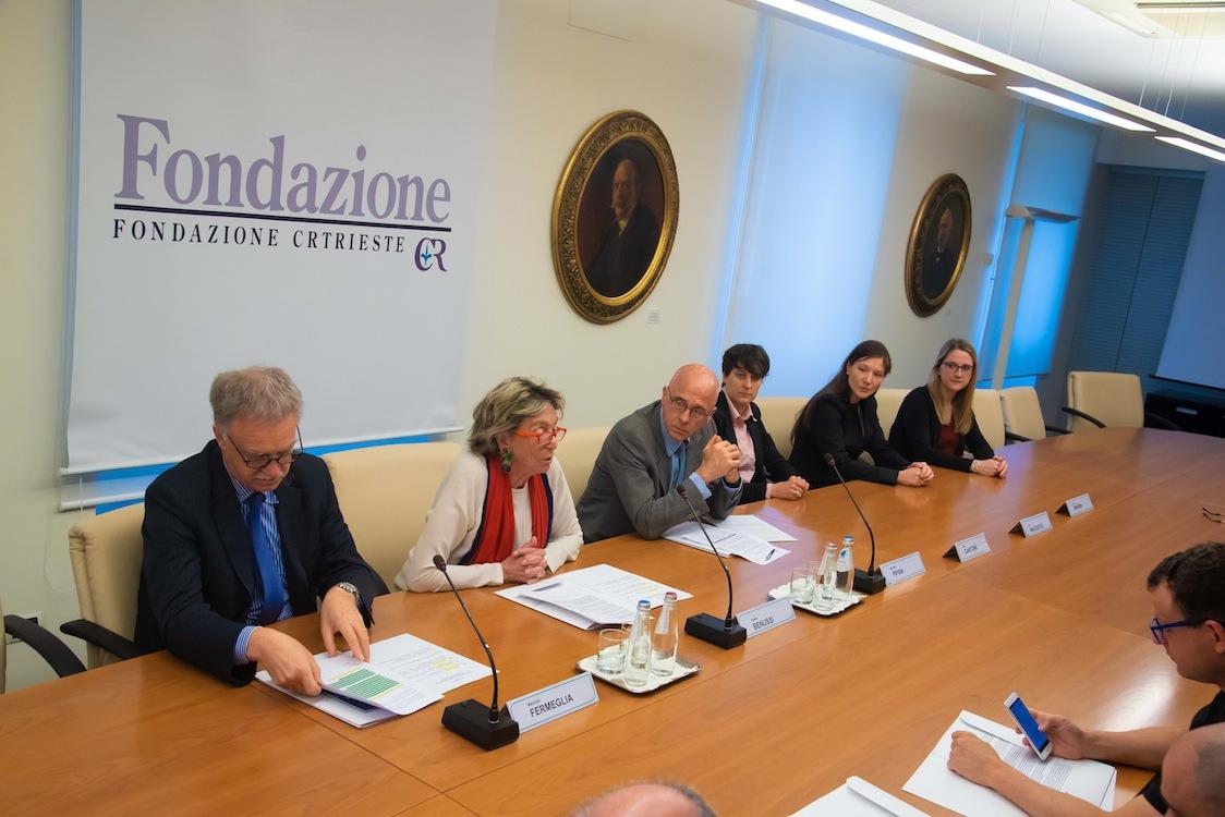 """Fermeglia, Benussi e Pipan, relatori alla conferenza di presentazione del progetto """"Modello Trieste"""""""